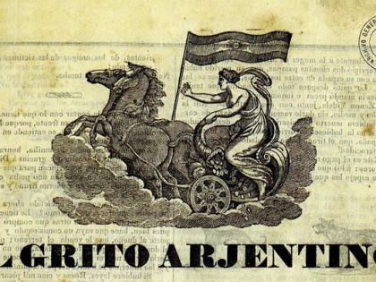 Iconografía de la Patria y los emblemas de la libertad en el Grito Argentino (1839).